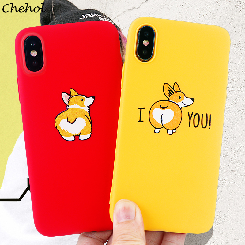 Corgi Phone Cases For IPhone 6s 7 8 11 Plus Pro X XS MAX XR Case Funny Cute Dog Ass Soft Silicone Fitted Back Cover Accessories