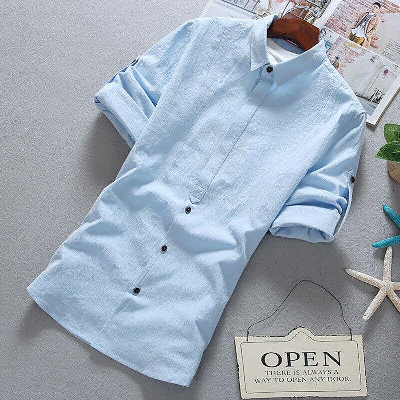 Men's Short-sleeved Shirt Men's Shirt Youth Slim Handsome Men's Shirt