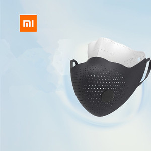 Image 2 - Xiaomi mijia AirPOP אוויר ללבוש PM0.3 / pm2.5 אנטי אובך מסכת פנים עם 2pcs מסנן מתכוונן אוזן תלייה נוח פנים מסכות