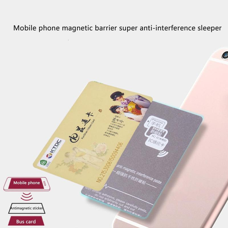 1pc Mobile Phone Card Anti-magnetic Sticker NFC Anti-metal Wave Absorbing Material Anti-magnetic Anti-theft Card Protector Cover
