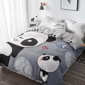 Image 2 - Svetanya 1pc Duvet Abdeckung 100% Baumwolle Quilt Tröster Decke Fall Kinder Cartoon Panda Gedruckt