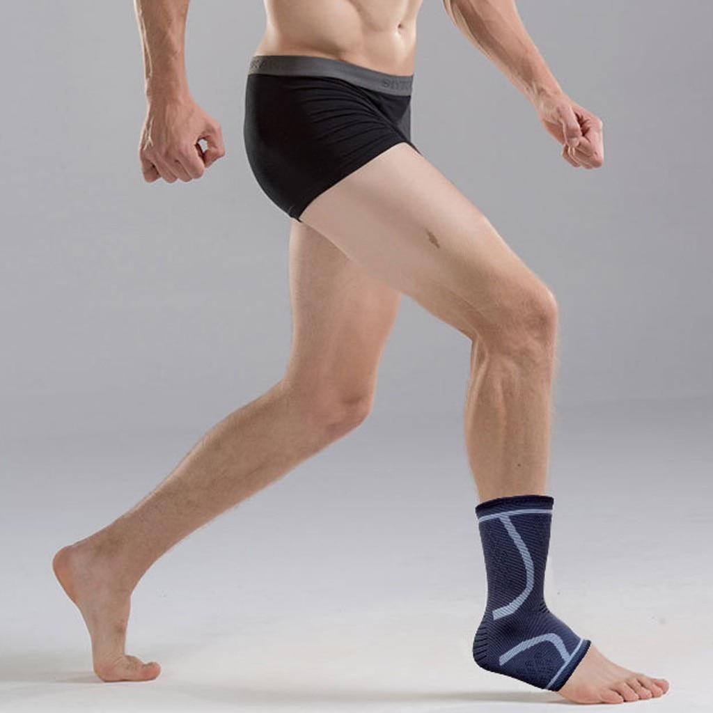 1Pair Elasticated Knee Blue Knee Pads Knee Support Brace Leg Arthritis Injury Gym Elasticated Bandage Ankle Brace Support