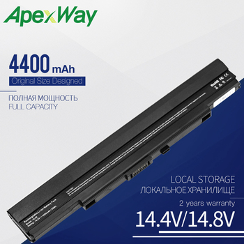 Apexway A42-UL30 A42-UL50 A42-UL80 Laptop Battery for Asus UL30 UL30A UL30JT UL30VT UL50 UL50A UL50VS UL80 UL80V 8 Cells 4400mAh 4400mah new laptop battery for nec pc vp bp18 op 570 75201 versa s260