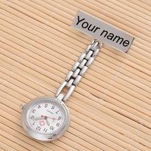 Персонализированные Индивидуальные Бесплатные Выгравированные с вашим именем высокое качество булавка брошь из нержавеющей стали нагрудные карманные часы Fob медсестры часы