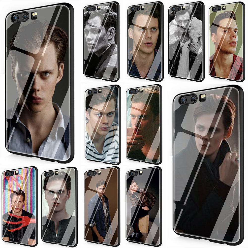 <font><b>Bill</b></font> <font><b>Skarsgard</b></font> Tempered Glass Phone Cover Case for Huawei P10 P20 P30 Y6 Y9 Honor 8X 7A pro 9 10 Mate 20 Lite Pro image