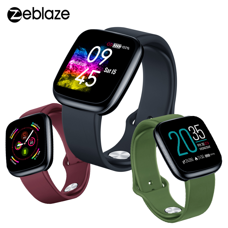 Zeblaze Crystal 3 Smartwatch Wristband IP67 Waterproof Heart Rate Long Battery Life IPS Color Screen Smart Watch For Android IOS(China)