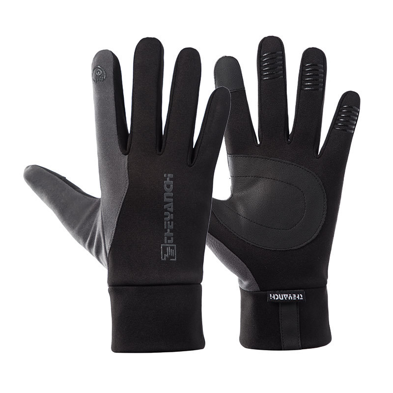Men Women Outdoor Sports Fitness Non-slip Cycling Gloves Winter Plus Plush Thick Warm Touch Screen Non-slip Ski Gloves J17