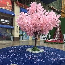 10 pces 150cm simulação cerejeiras para casamentos cor rosa & branca
