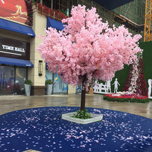 10pcs 150cm סימולציה דובדבן עצי לחתונות ורוד ולבן צבע