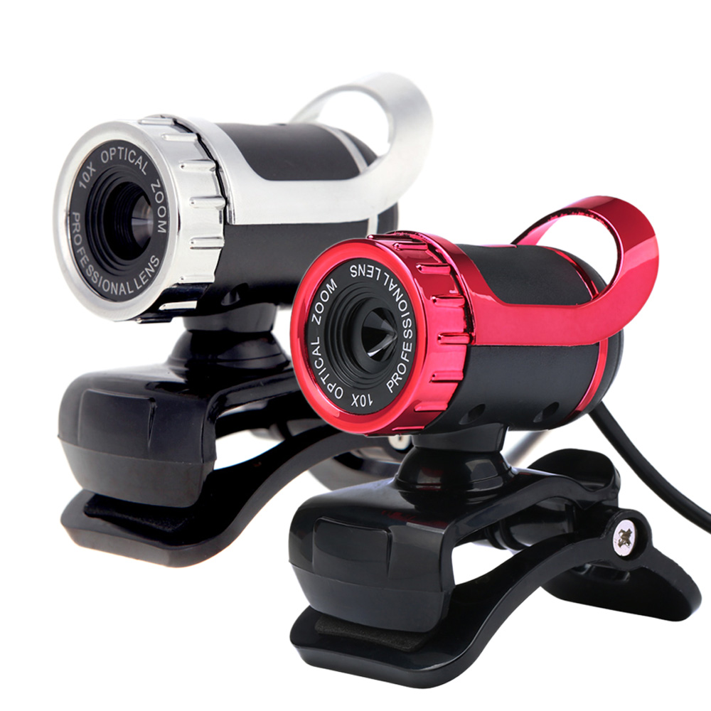 12 Megapixels HD Webcam USB 2.0 Camera Web Cam 360 Degree  MIC Clip-on For Desktop Skype Computer PC Laptop Built-in Microphone