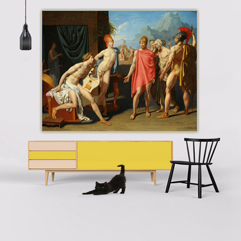 Citon Ingres《The Ambassadors of Agamemnon in the tent of achilles》Canvas Art Oil Painting Picture Wall Decor Home Decoration image
