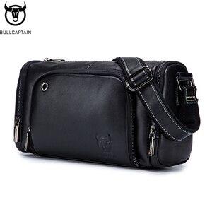 Мужская кожаная сумка через плечо BULLCAPTAIN, кожаная сумка-мессенджер для езды на мотоцикле, для отдыха, фитнеса, спорта, мужская сумка через пл...