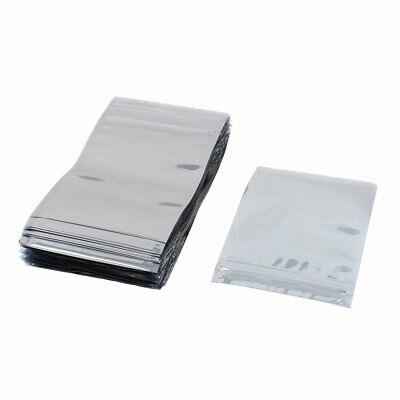 100 pces 90mm x 130mm prata tom resealable zip lock anti saco estatico