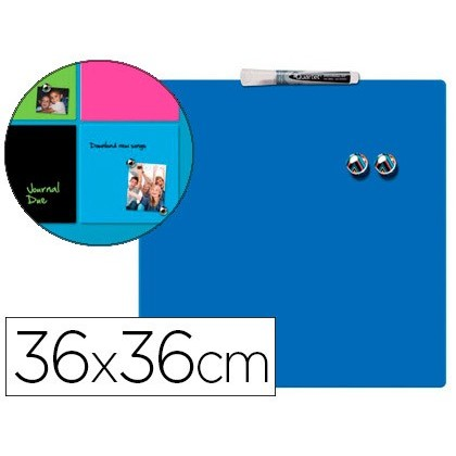 SLATE REXEL HOME MAGNETICA THERAPY 360X360 MM BLUE COLOR INCLUDE MARKER AND 2 MAGNETS