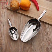 Ice Scoop Shovel Stainless Steel food flour coffee beans Kitchen&Bar tool 7 sizes: No. 1, 2,3,4,5,6,7