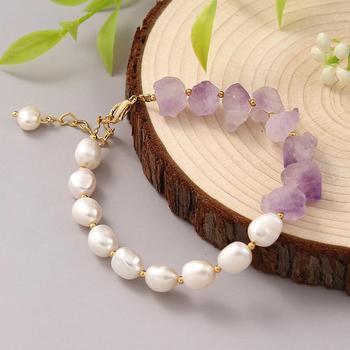 Bracelet de perles d eau douce v ritable fait main Coeufuedy pour les femmes cadeau de