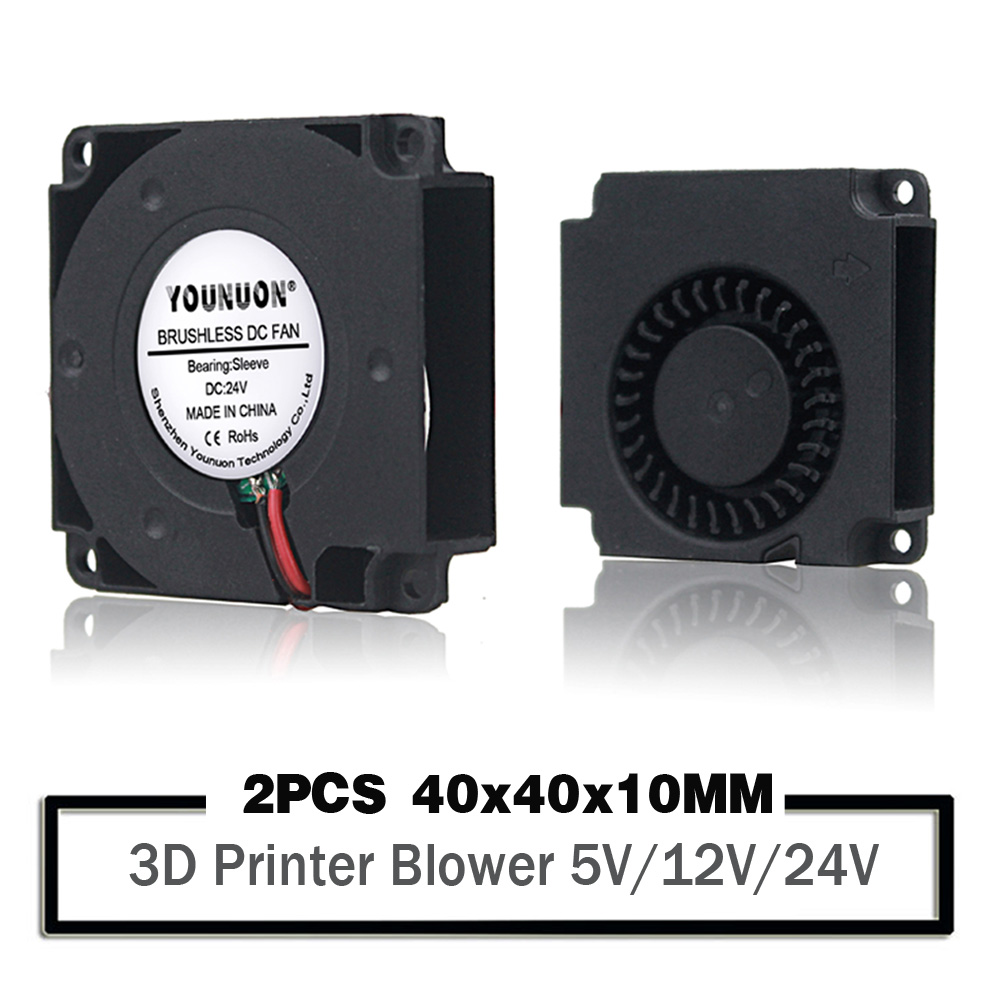 2PCS  40mm 3D Printer Fan 12V 24V 5V 4010 Blower Printer Cooling Accessories DC Turbo Blower Fan Radial Fans 40x40x10mm