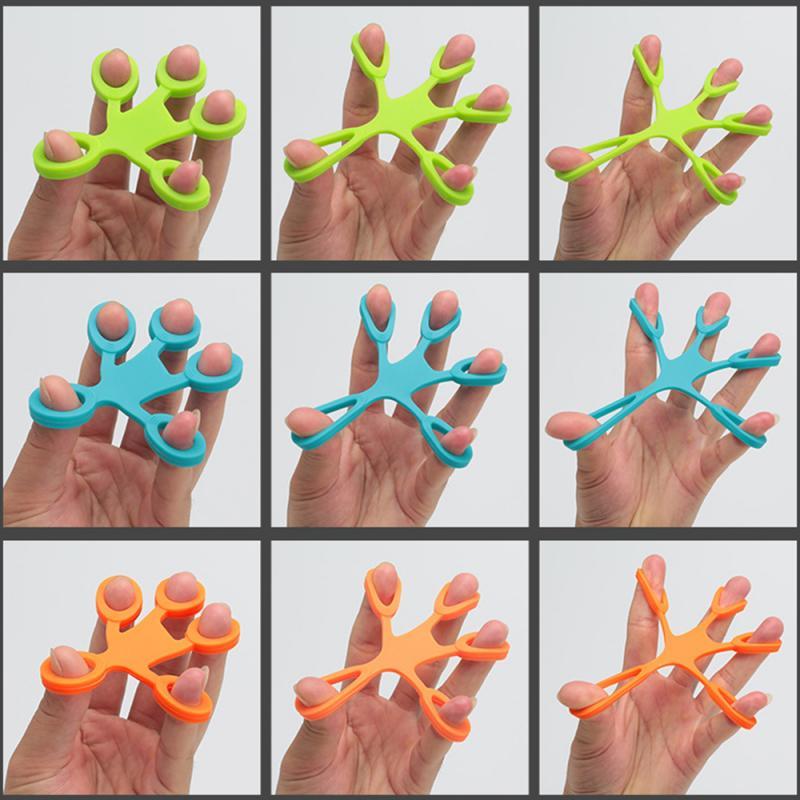 Hand Grips Finger Strength Exerciser Trainer Strengthener Grip Resistance Trainer Hand Expander Gym Fitness Equipment For Home