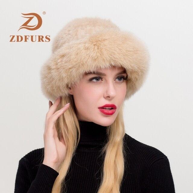 Zdfurs* real mink fur hat caps rus