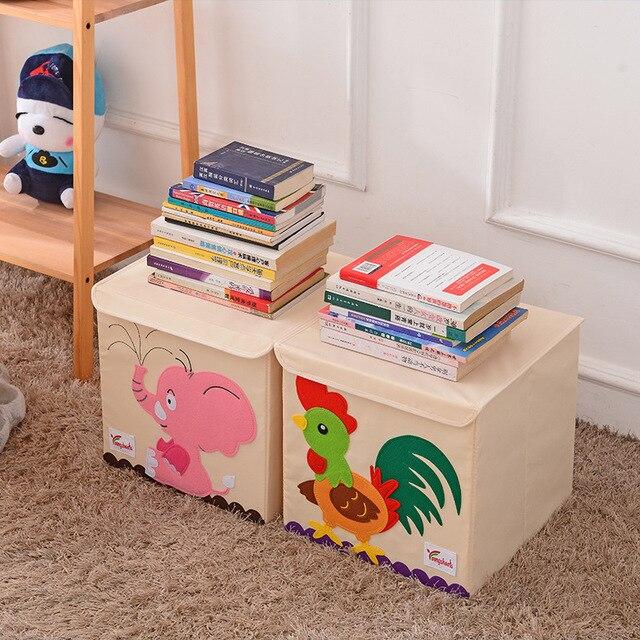 Neue Cartoon Tier Stickerei Falten Lagerung Box Gewaschen Oxford Tuch Kleiderschrank lagerung tasche kid spielzeug