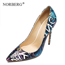 цены NORBERG Women Pumps High Heels Sexy High Heels Shoes for Women Stilettos Fashion Luxury Wedding Party Shoes Big Size