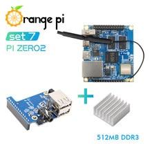 Orange Pi Zero 2-Placa de expansión, disipador de calor de aluminio, funciona con Android 10,Ubuntu, sistema operativo Linux, 512MB
