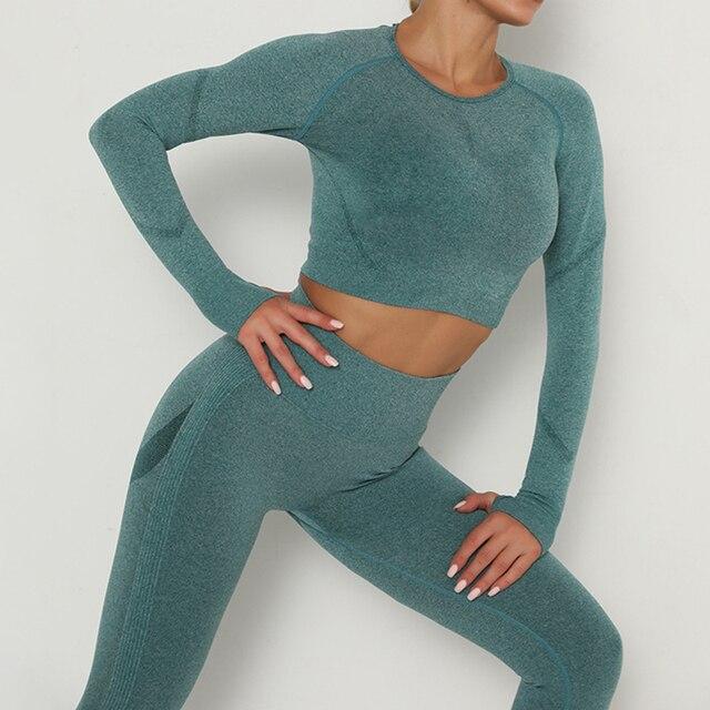 Купить женский спортивный костюм набор одежды для йоги тренировок тренажерного картинки цена