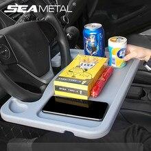 Auto Tisch Innen Auto Faltbare Fach Universal Lenkrad Sitz Zurück Fach Versenkbare Halterung Tisch auf Essen Trinken Laptop Telefon