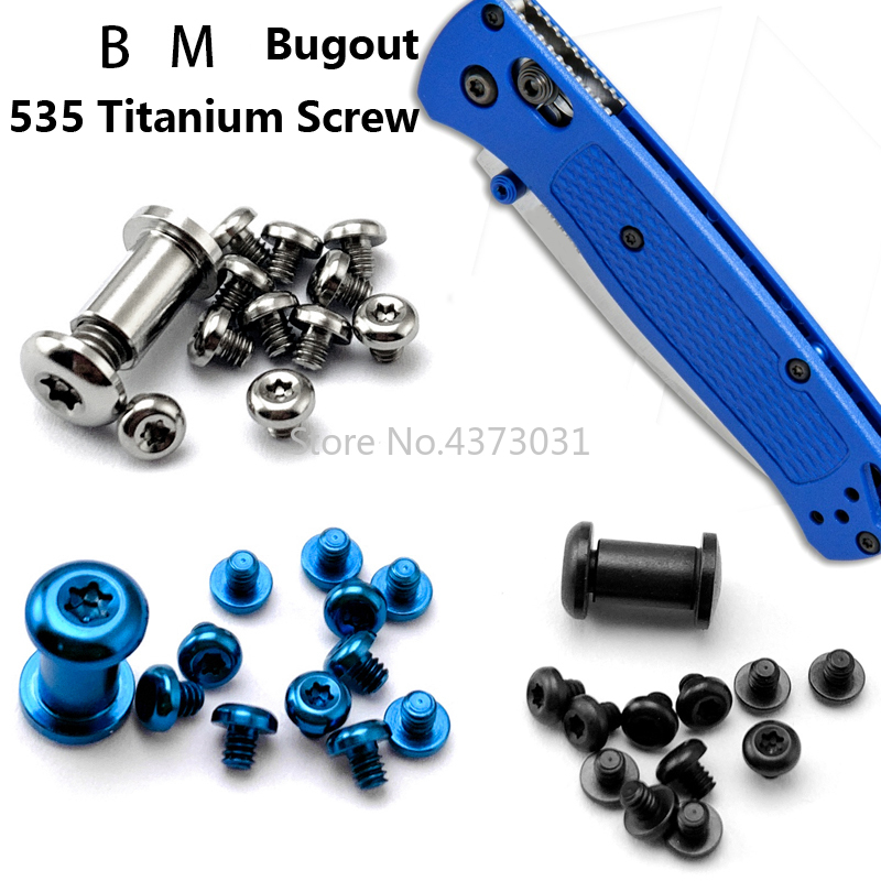 1 Set Titanium Alloy Nail For Butterfly Knife 535 Spider Screw Bugout 535 Handle Screw EDC Knife Screw