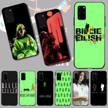PENGHUWAN Билли Eilish логотип черный TPU мягкий телефона чехол для Samsung S20 с плюс ультра С6 С7 С8 С9 С10 края 5г
