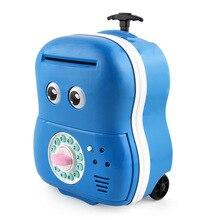 New Children's Cartoon ATM Password Automatic Money Roll Coin Piggy Bank Hand Luggage  Password Box
