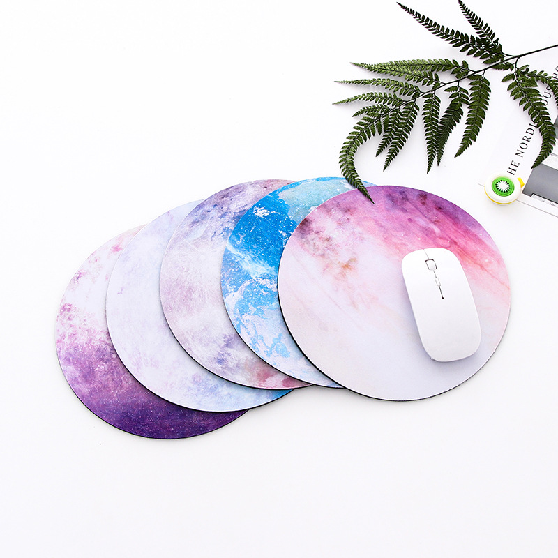 Desk Pad Round Mouse Pad Moon Mousepad Office Mice Pad Computer Peripherals Accessory