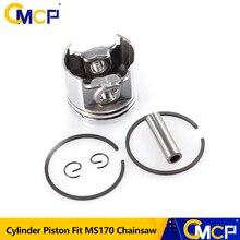 1 Set MS170 Gaslione Kettingzaag Onderdelen Kit 37Mm Cilinder Zuigerveer Pin Kit Kettingzaag Zuiger