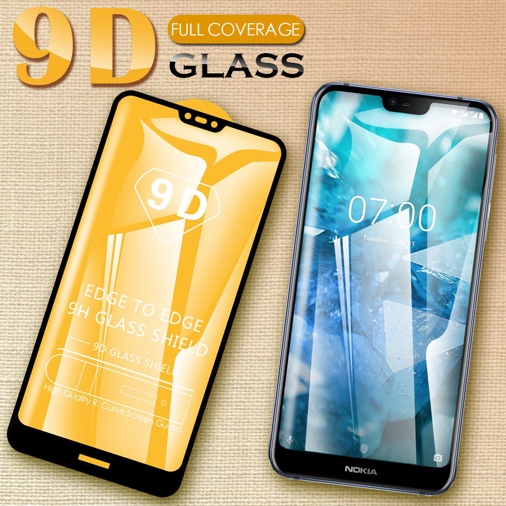 9d protective glas for <font><b>Nokia</b></font> 2 3 5 6 7 2017 9 pureview 2.1 3.1 5.1 6.1 <font><b>7.1</b></font> plus x5 x6 2018 tempered glass <font><b>screen</b></font> <font><b>protector</b></font> film image