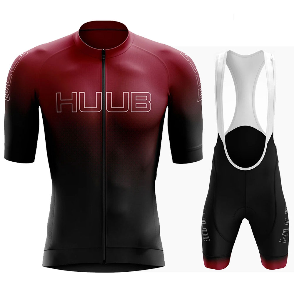Huub 2020 Man's Summer Short Sleeve Cycling Jersey Set Bib Pants Ropa Ciclismo Hombre Bicycle Clothing MTB Bike Jersey Uniform