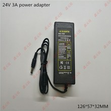 24v 3a power adapter 72W LED lighting Transformers strip For electrical appliances Black drive power