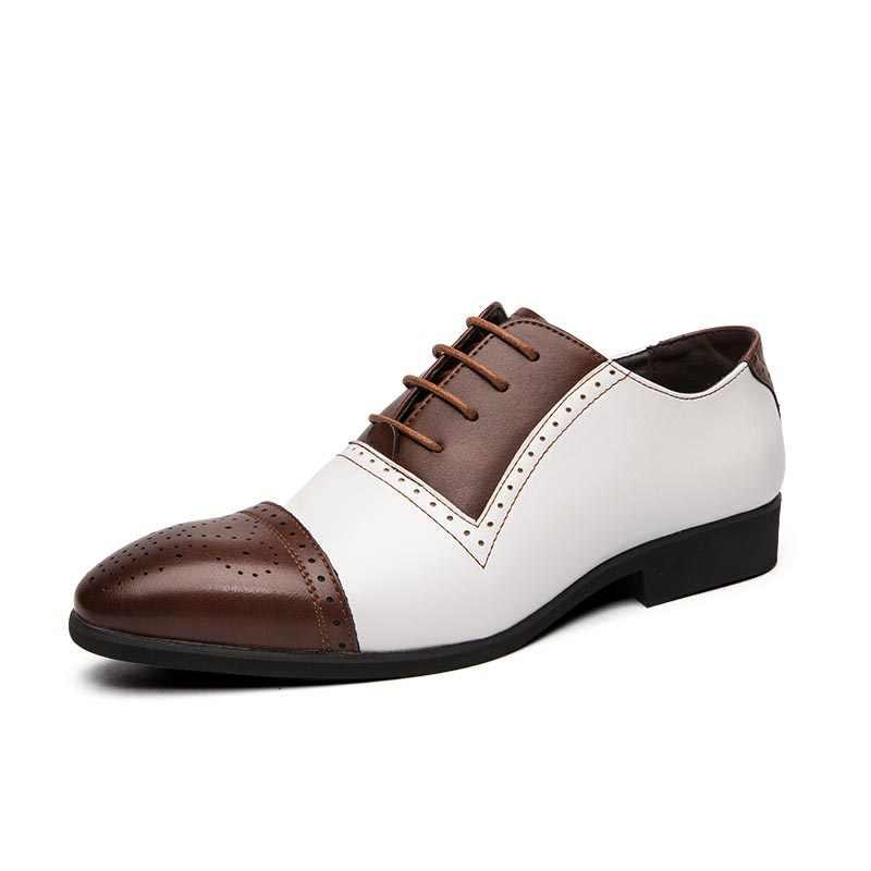 แฟชั่น Casual หนังทำด้วยมือรองเท้าผู้ชาย Oxfords ธุรกิจชุดแต่งงานจัดส่งฟรีบิ๊ก Brogue DERBY