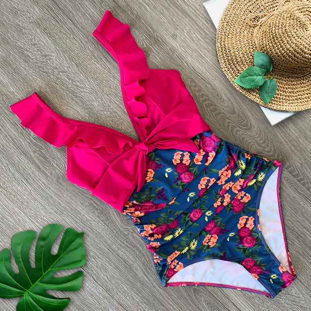 Sexy New Ruffle One Piece Swimsuit