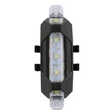 Портативный USB Перезаряжаемый велосипед велосипедный задний Предупреждение задний фонарь супер яркий белый свет