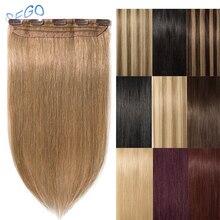 """SEGO """"-24"""" 40 г-60 г прямые человеческие волосы для наращивания на заколках чистый и фортепианный цвет волосы на заколках человеческие волосы для наращивания 1 p/w 5 клипов"""