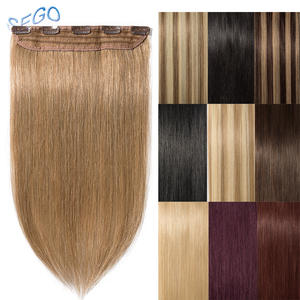 SEGO Hair-Clip Human-Hair-Extension 1p/W Pure-And-Piano-Color Straight 8--24-40g-60g