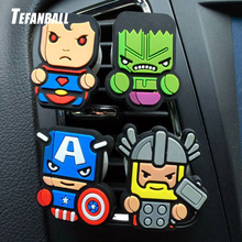 Automobile Cartoon Air Freshener Car Perfume Vent Clip Deadpool Marvel The Avengers Style Auto Solid Fragrance Conditioner