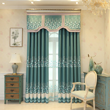 New Embroidery Cotton Shade Curtains for Living Dining Room Bedroom.