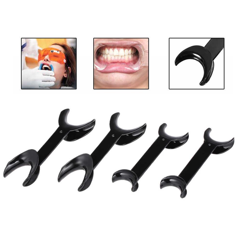 4 サイズ歯科ツール T 形口腔内チークリップリトラクターオープナーダブルヘッド矯正歯口オープナー