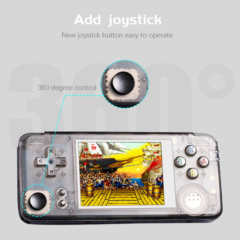 Image 3 - DATA FROG RS 97 Retro Handheld Game Console 64Bit 16GB 3.0Inch Built in 3000 Classic Games Support For NEOGEO/CP1/CP2 Emulators-in Handheld Game Players from Consumer Electronics