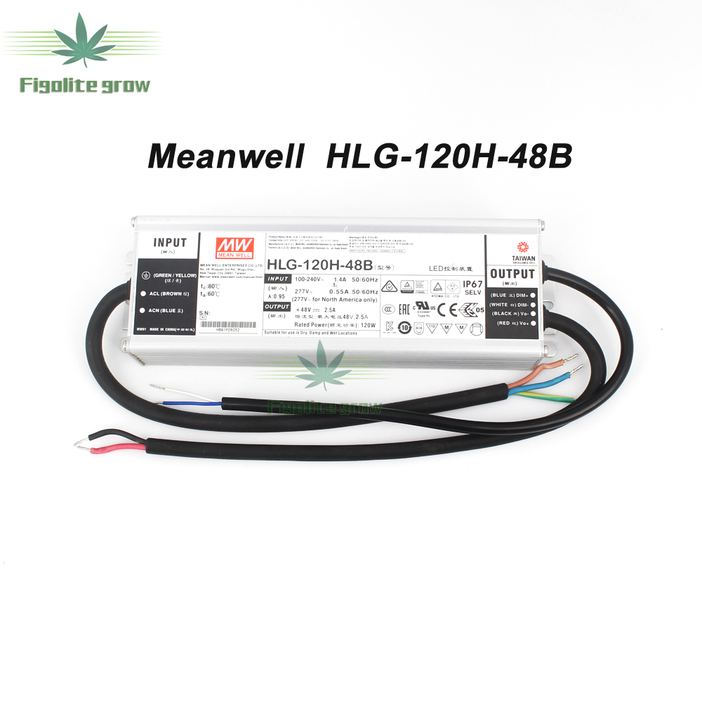 Meanwell Driver HLG-120H-48A/B,HLG-240H-48A/B,ELG-150-48A/B,ELG-240-48A/B Power Supply 120w/240w 110V/220V 85-265V Quantum Board