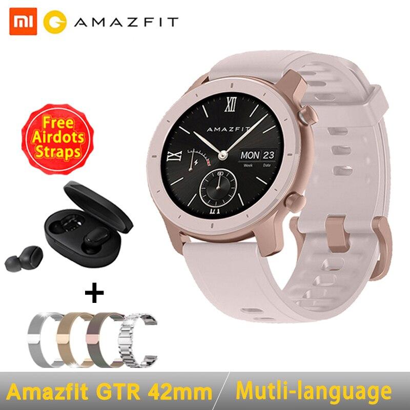[Глобальная версия] AMAZFIT GTR умные часы 42 мм 5 АТМ водонепроницаемые gps ГЛОНАСС Bluetooth монитор сердечного ритма умные часы