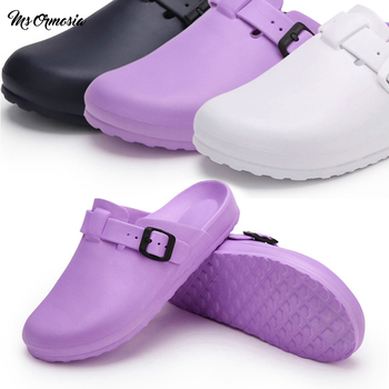 Medical Slippers Unisex Hospital Surgical Scrub Shoes Doctor Nurse Surgical Shoes Nurse Shoes Cleanroom Lab Work Shoes Women new women s lab coat mock wrap doctor nurse beautician jacket medical uniform long sleeves notched collar nurse dress