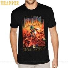 Doom T Shirt Men Video Game Cotton T-shirt 6xl For Men's Design Shirts