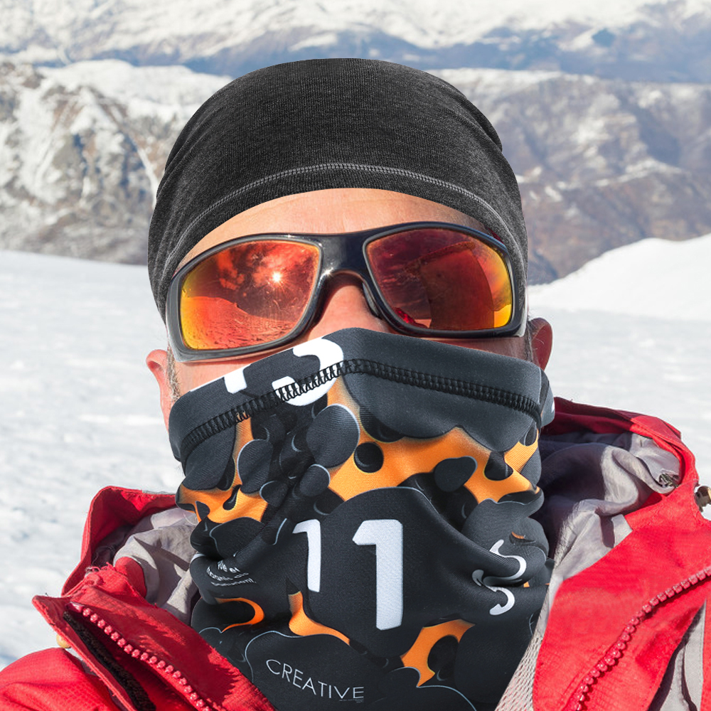 Winter Warm Face Mask Shield Wrap Scarf Tube Neck Gaiter Cover Dust-proof Bandana Headscarf Windproof Skiing Snowboard Men Women
